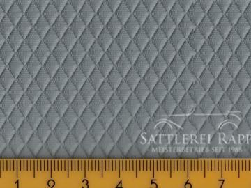 H17g Himmelkunstleder Raute grau ca.1,40m breit