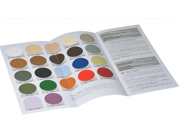 P04P KERALUX® Farbauffrischungsset für pigmentierte Leder Standard/Farbkarte
