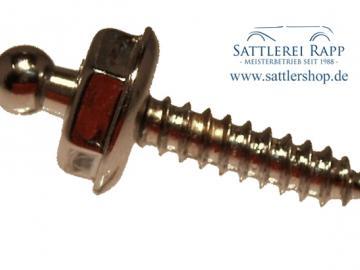 T04n/16 Loxx Unterteil Holz- Blechschraube 16 mm vernickelt