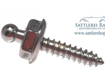 T04c/16 Loxx Unterteil Holz- Blechschraube 16 mm verchromt