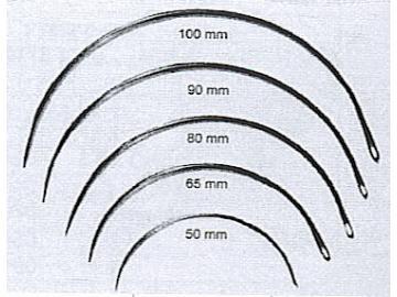 N1090 Nadel gebogen ca. 90 mm Polsternadel