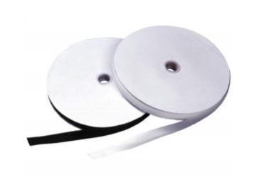 N21s Flauschband 20 mm, 25mm, 50 mm, schwarz selbstklebend