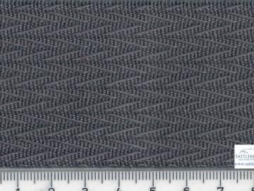 OLD102g Oldtimerstoff gerippt V Muster grau
