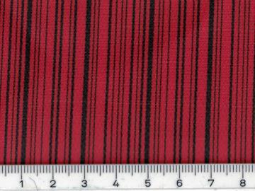 AG005 Kunstleder rot mit schwarzen Streifen Sonderposten 1,30 m breit