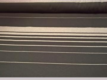 POR300 Polsterstoff Autostoff schwarz mit hellen Streifen