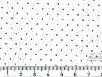 H22gk Himmelkunstleder gelocht reinweiss kaschiert ca.1,40m breit