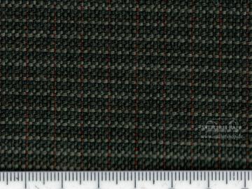 MER110gr Polsterstoff Mercedes W123 Serie 3 Streifenkaro olivgrün