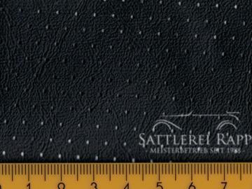 H41gs Porsche Himmelkunstleder gelocht schwarz anthrazit ca.1,20m breit