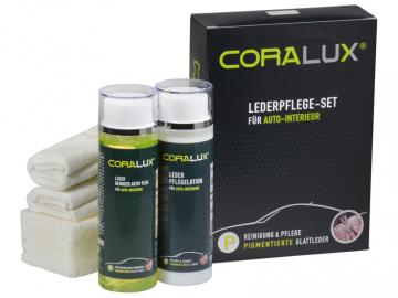 P02 CORALUX® Lederpflege-Set für Autoleder