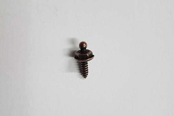 TSak10g Loxx Set 10 x Oberteil mit glattem Kopf + 10 x Unterteil Holz-Blechschraube 12 mm alt kupfer