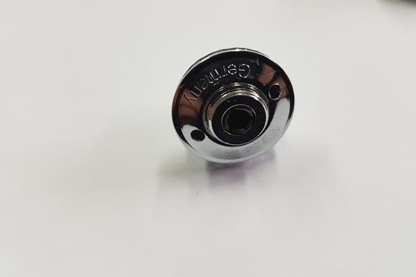 TSco10 Loxx Set  10 x Oberteil HD der original  Knopf + 10 x Unterteil Holz-Blechschraube 12 mm verchromt
