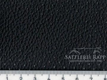 KL01gs Kunstleder schwarz gelocht genarbt ca. 1,50 m breit