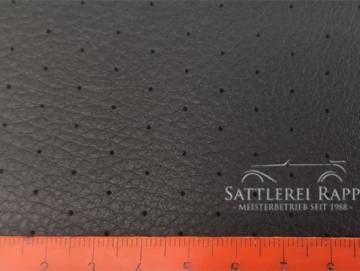 KL01gk Kunstleder schwarz gelocht kaschiert ca. 1,50 m breit