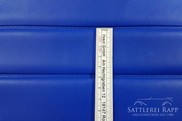 KLP01b Kunstleder blau abgeschweisste Pfelfen ca.50 mm ca. 1,40 breit Sonderposten