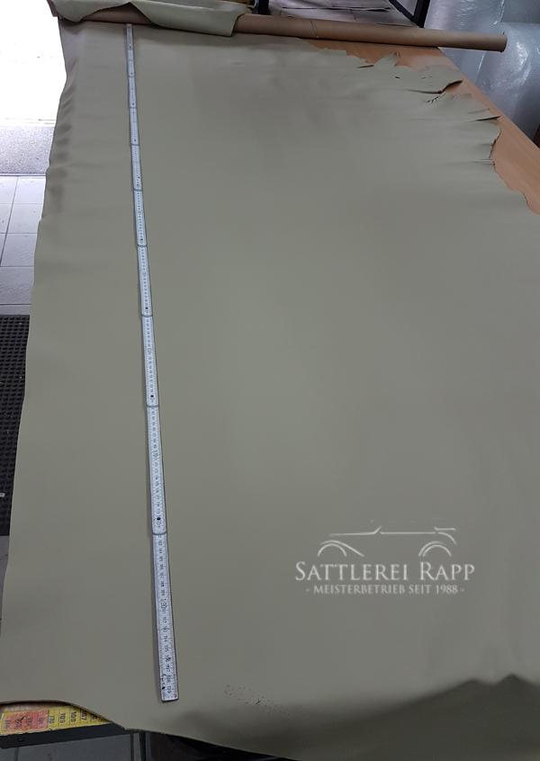 L001b Leder Echtleder beige sand günstig Sonderposten 1/2 Haut