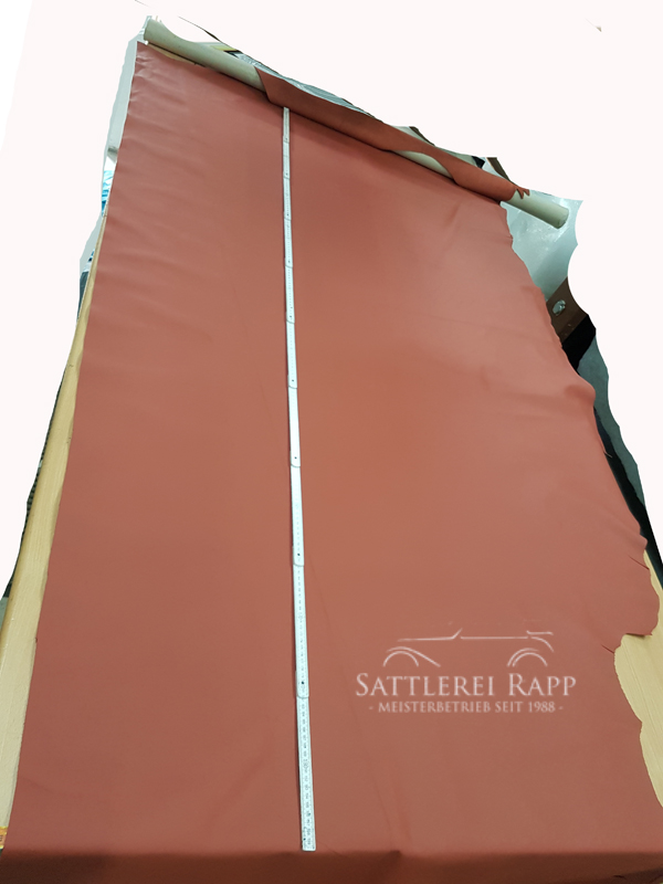 L001r Leder Echtleder rot günstig Sonderposten 2 x 1/2 Haut