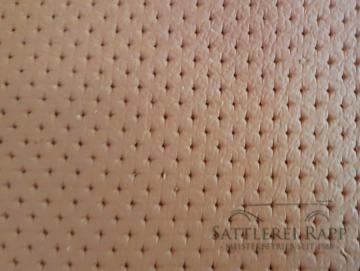 L001tP Leder Echtleder tan / braun perforiert Sternperforation günstig Sonderposten 2 x 1/2 Haut